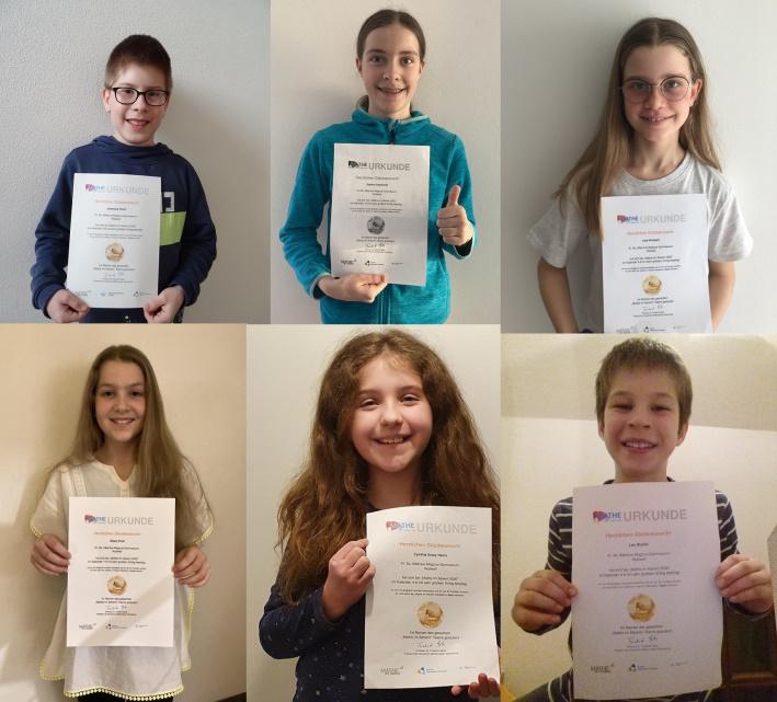 Fotos einiger Preisträger des Wettbewerbs Mathe im Advent 2020